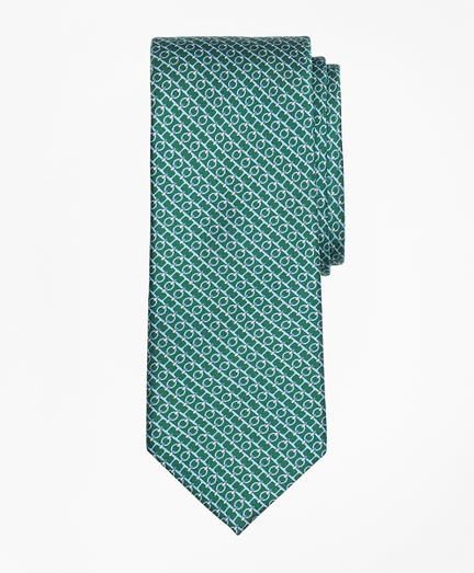 Chain Link Print Tie