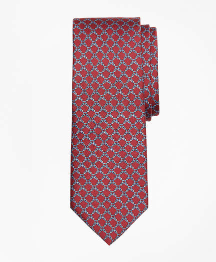 Square Link Print Tie