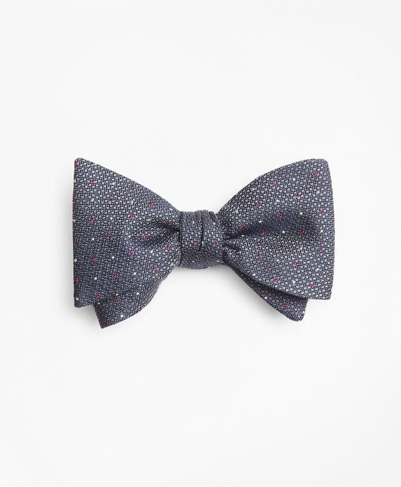 Alternating Dot Bow Tie Grey