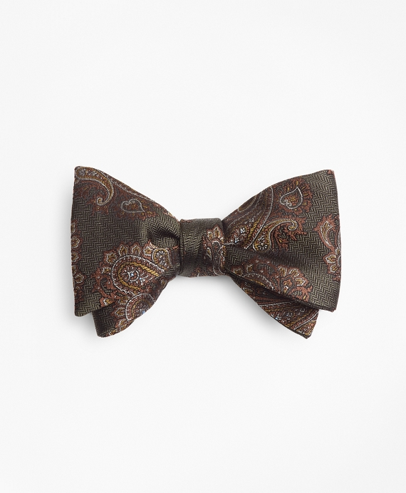 Large Paisley Bow Tie Dark Green
