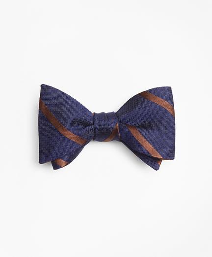 Textured Bar Stripe Bow Tie