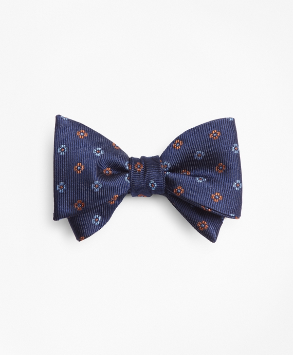 Two-Tone Flower Bow Tie Navy