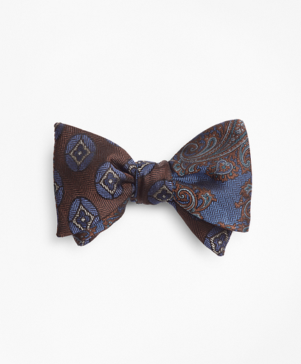 Large Paisley with Flower Medallion Reversible Bow Tie