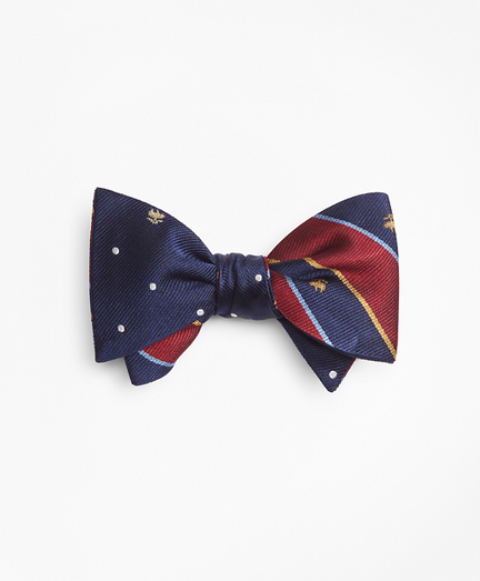 Argyll Sutherland and Golden Fleece® with Dot and Golden Fleece® Reversible Bow Tie