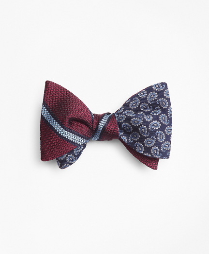 Pine with Textured BB#2 Stripe Reversible Bow Tie