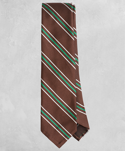Golden Fleece® Wide Split-Stripe Silk Tie