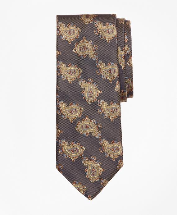 Large Paisley Tie Grey