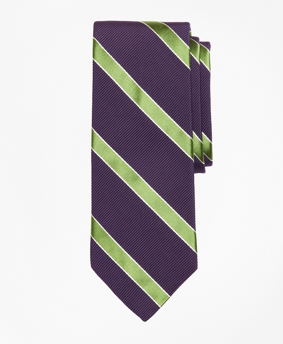 Mogador Framed Stripe Tie Purple