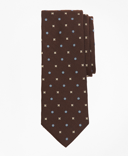 Textured Ground Alternating Flower Tie