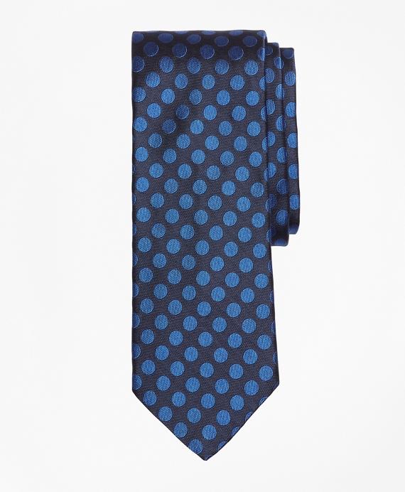 Large Polka Dot Tie Blue