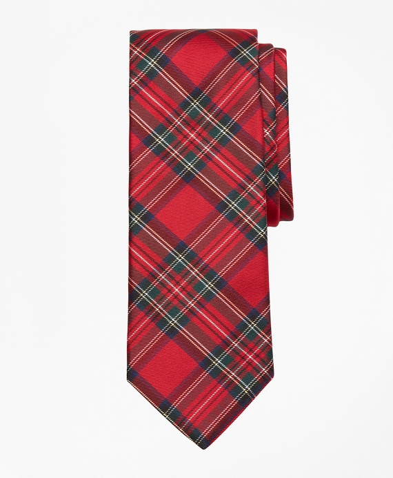 Prince of Wales Tartan Tie Red
