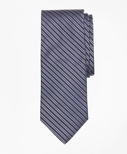 Textured Split Stripe Tie