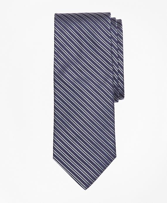 Textured Split Stripe Tie Blue