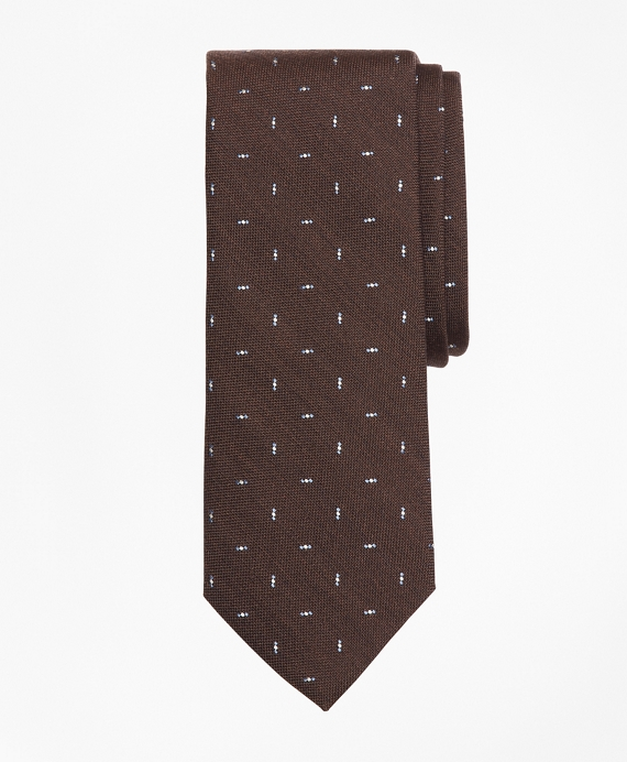 Triple Dot Tie Brown