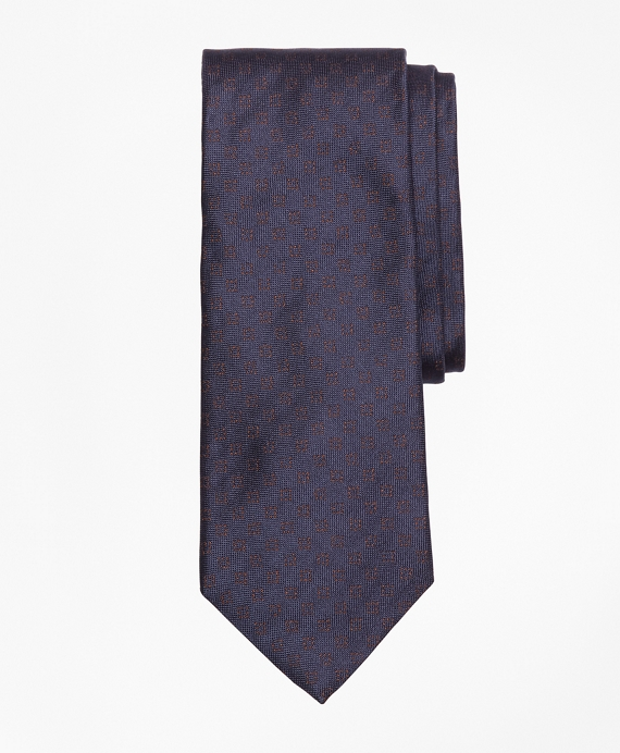 Dotted Square Tie Navy