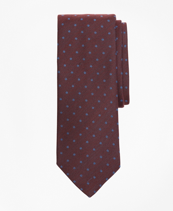 Mini-Dot Tie Burgundy