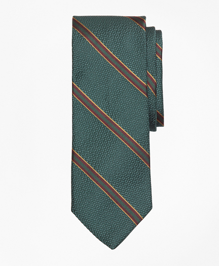 Textured Ground Double Framed Stripe Tie
