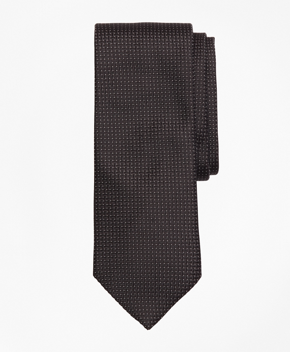 Textured Micro-Dot Tie Black