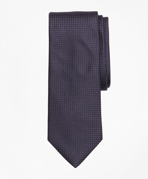 Textured Micro-Dot Tie Navy