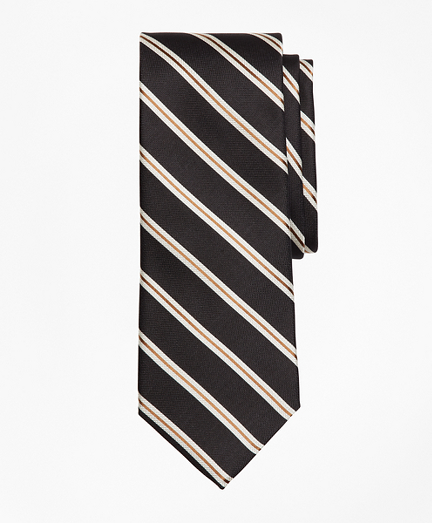 Brooks Brothers Textured Ground Split Stripe Tie
