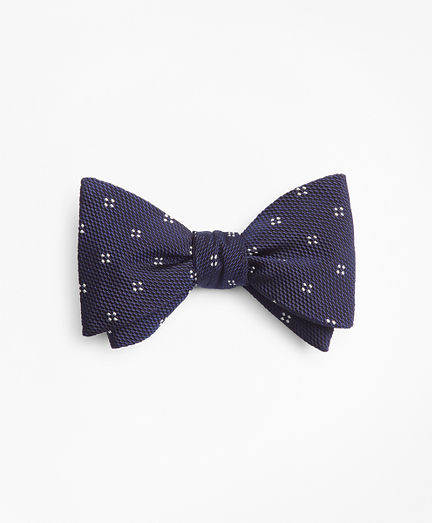 Square Dot Flower Bow Tie