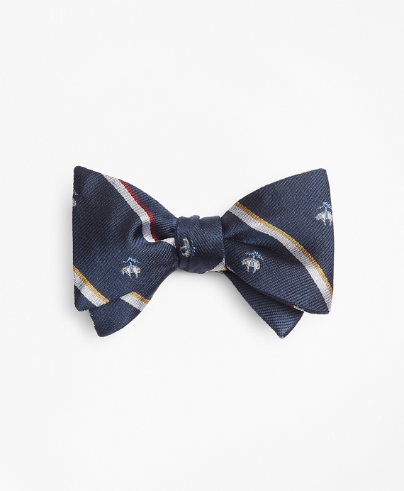 Sidewheeler Stripe with Golden Fleece® Bow Tie Navy