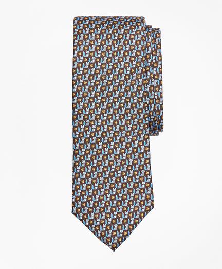 Fox and Leaf Print Tie