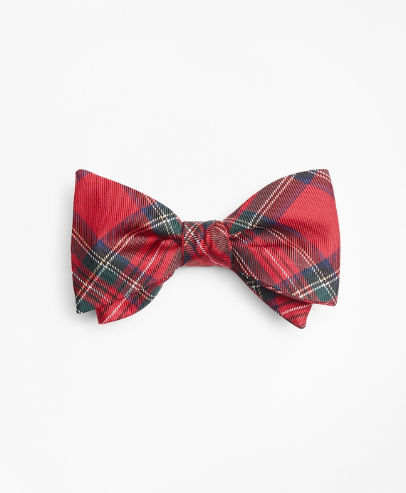 Red Stewart Tartan Bow Tie Red
