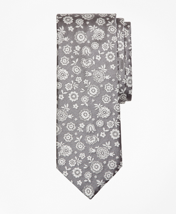 Large Flower Tie Grey