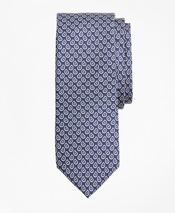 Micro-Pine Tie Navy