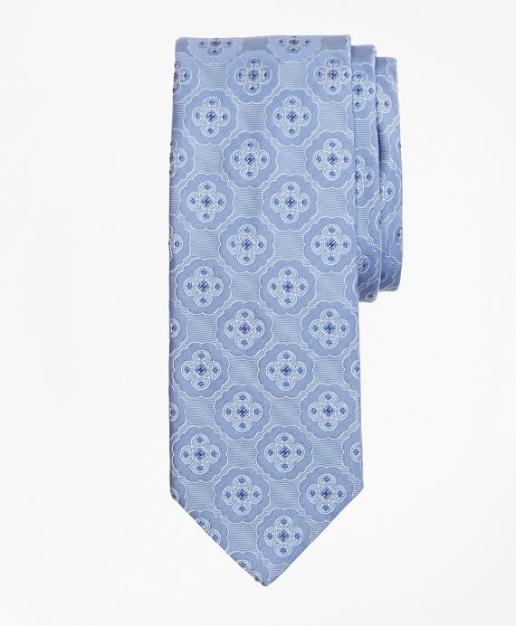 Ornate Medallion Tie Blue