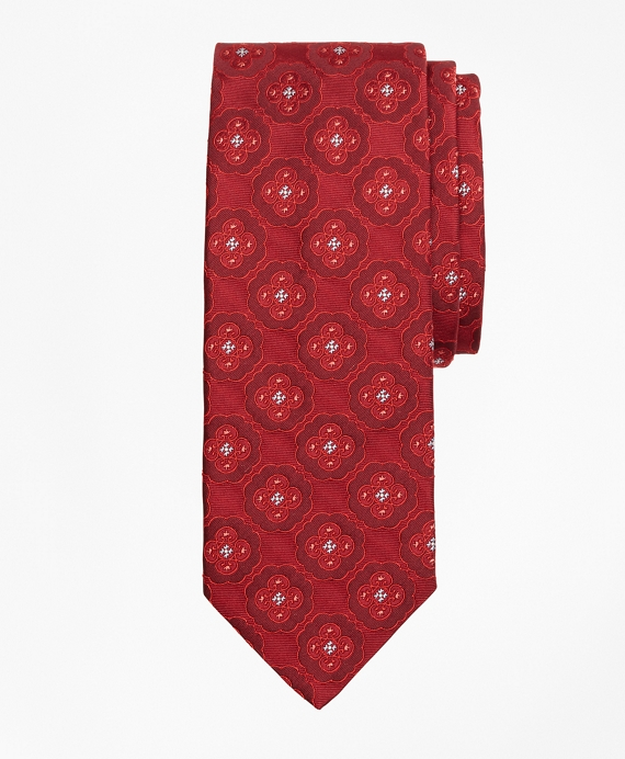 Ornate Medallion Tie Red