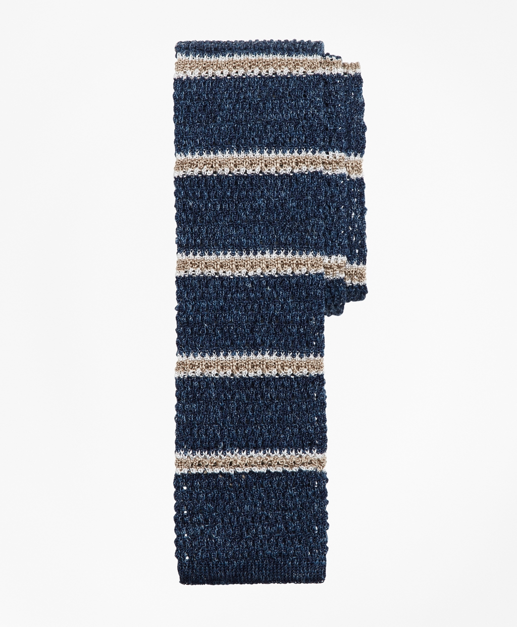 1920s Bow Ties | Gatsby Tie,  Art Deco Tie Brooks Brothers Mens Stripe Knit Tie $67.12 AT vintagedancer.com