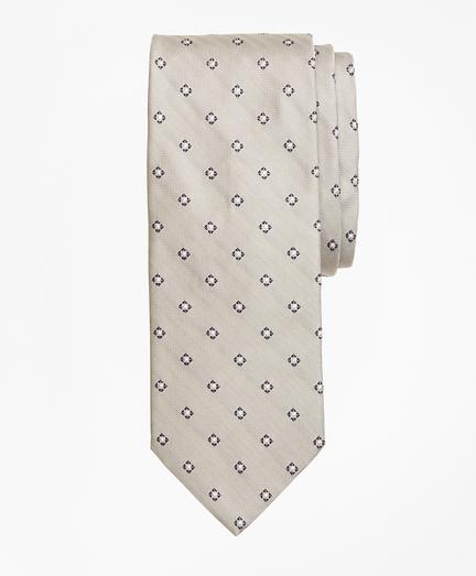 Herringbone Box Diamond Tie