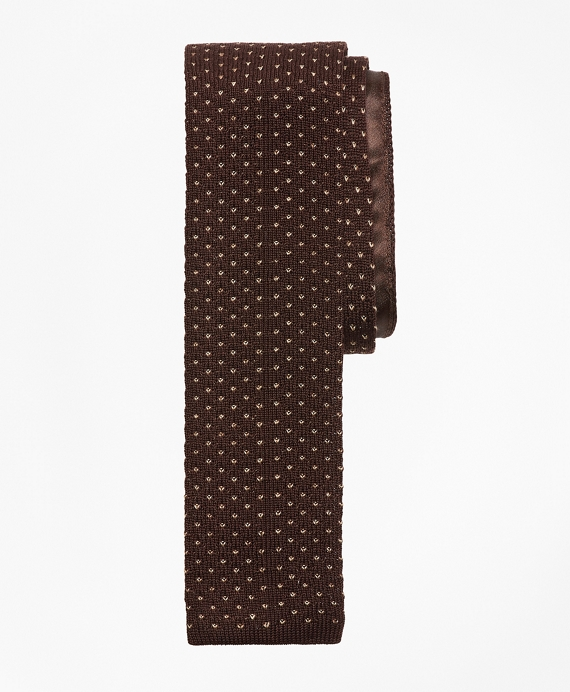 Dot Knit Tie Brown