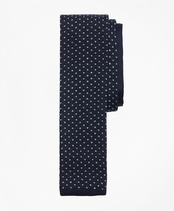 Dot Knit Tie Navy