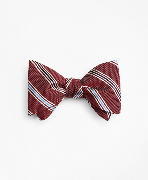 Track Stripe Bow Tie Wine
