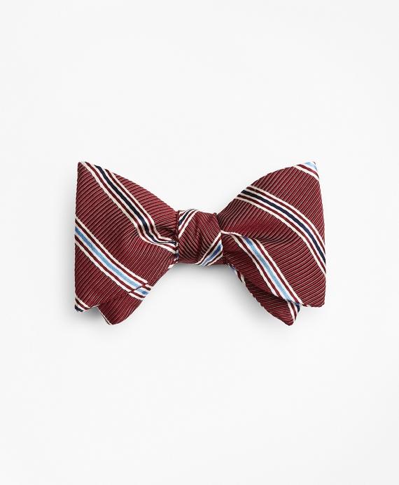 Track Stripe Bow Tie Wine