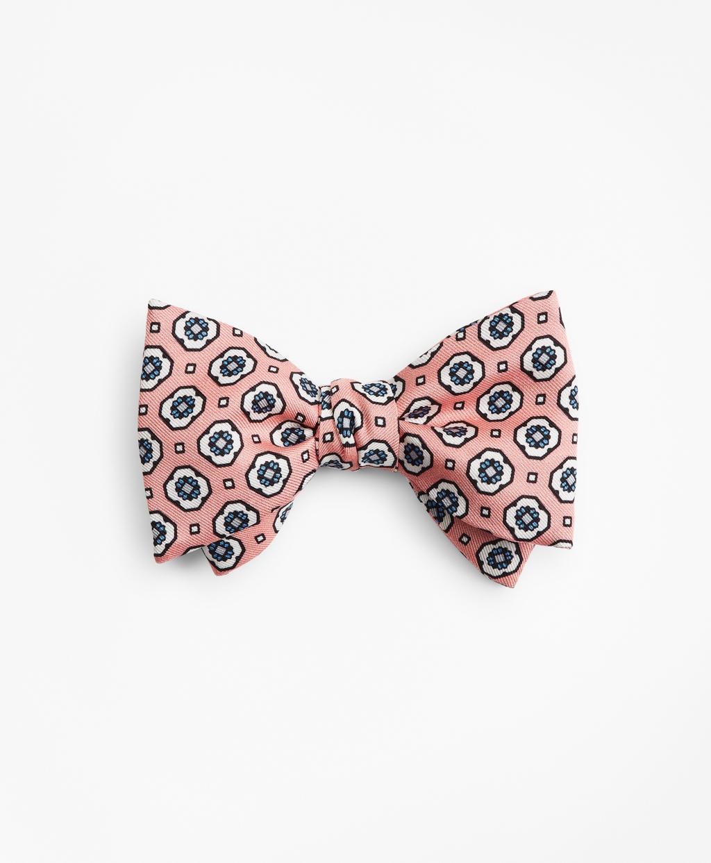 Men's 1920s Style Ties, Neck Ties & Bowties Brooks Brothers Mens Medallion Print Bow Tie $89.50 AT vintagedancer.com