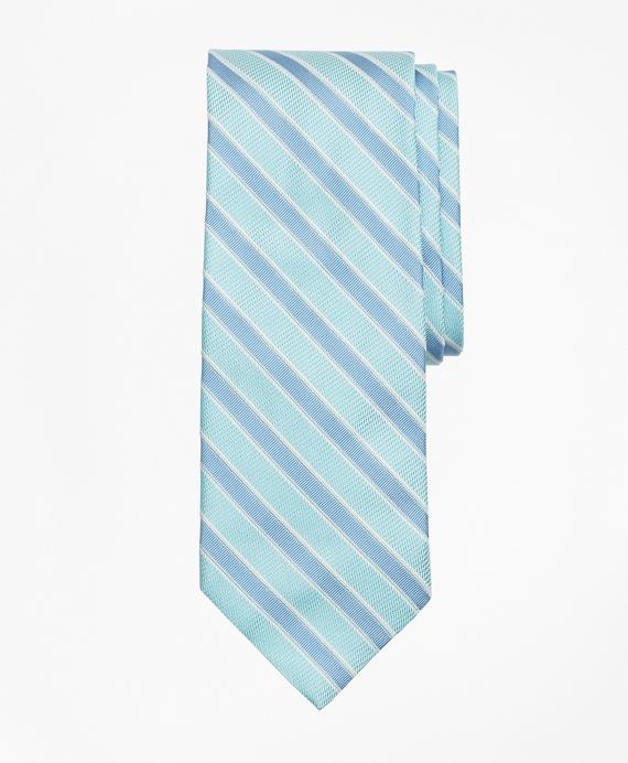 Bead Framed Stripe Tie Aqua
