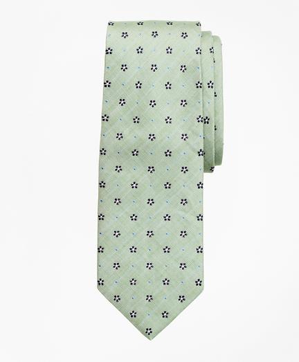 Silk and Linen Flower Tie