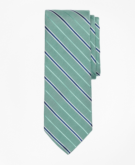 Ribbed Stripe Tie Green