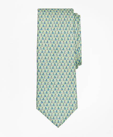 Sail Boat Print Tie