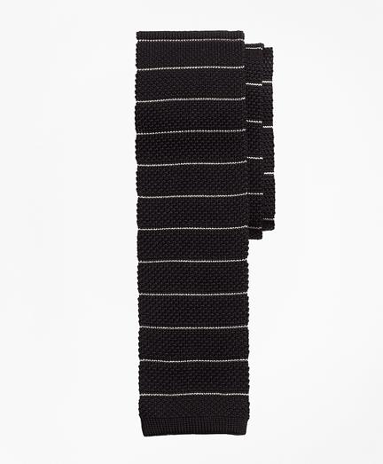 Thin Stripe Knit Tie