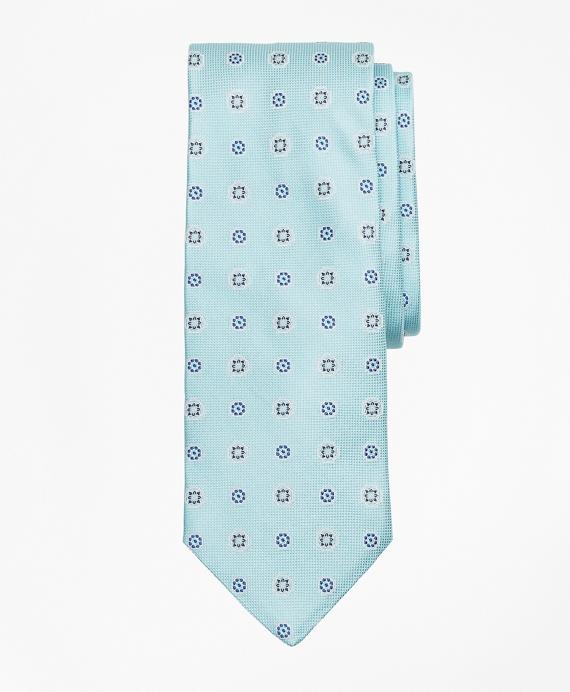 Alternating Medallion Tie Aqua