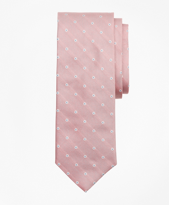 Wheel Stripe Tie Pink