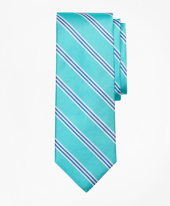 BB#1 Mini Stripe Tie Aqua
