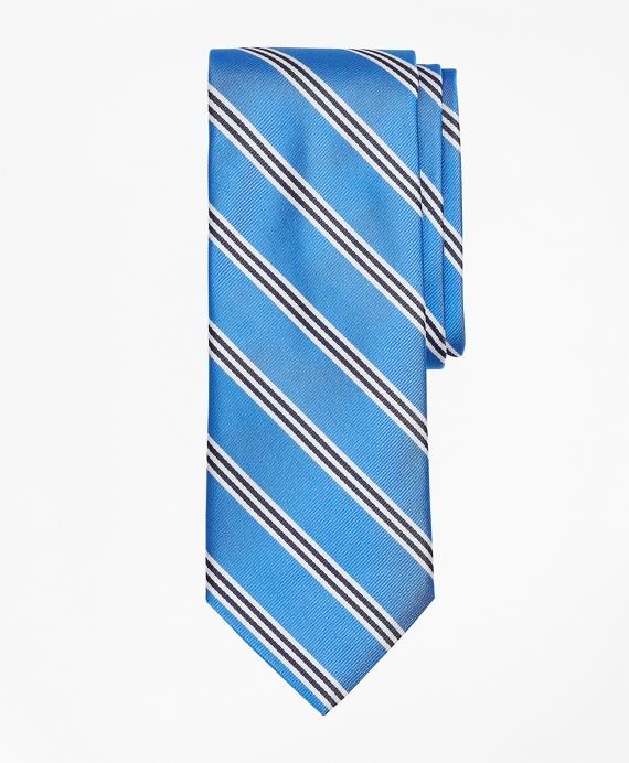 BB#1 Mini Stripe Tie Blue