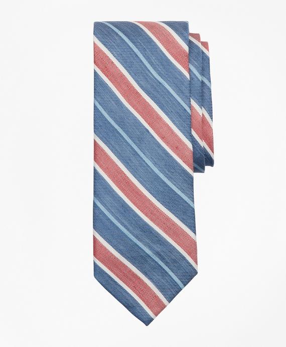 Awning Stripe Tie Navy
