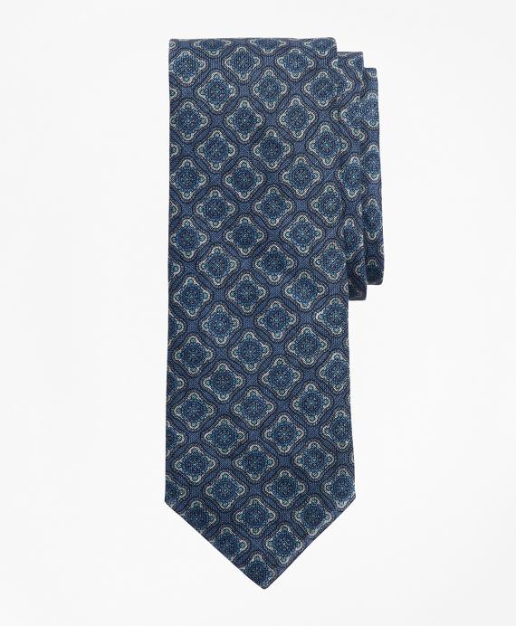 Vintage Medallion Tie Blue